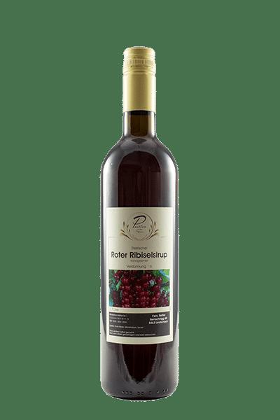 Ribiselsirup vom Weingut und Obstbau