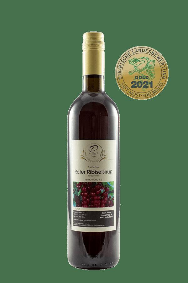 Roter Ribisel Sirup - Weingut und Obsthof Peitler Monti aus Leutschach in der Südsteiermark