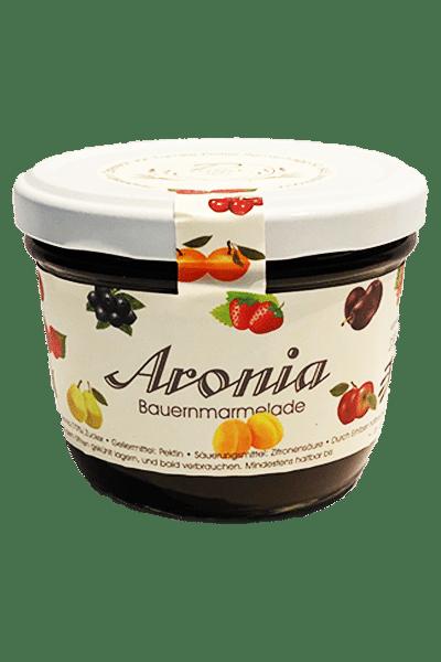 Aronia Marmelade - nur die feinsten Früchte im Glas -Weingut und Obsthof Peitler Monti aus Leutschach in der Südsteiermark