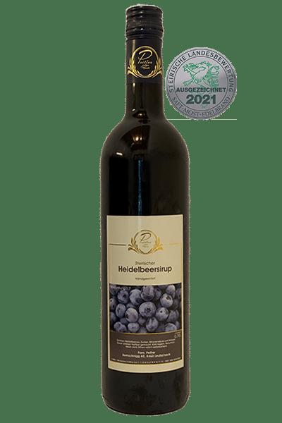 Heidelbeersirup - Weingut und Obsthof Peitler Monti aus Leutschach in der Südsteiermark