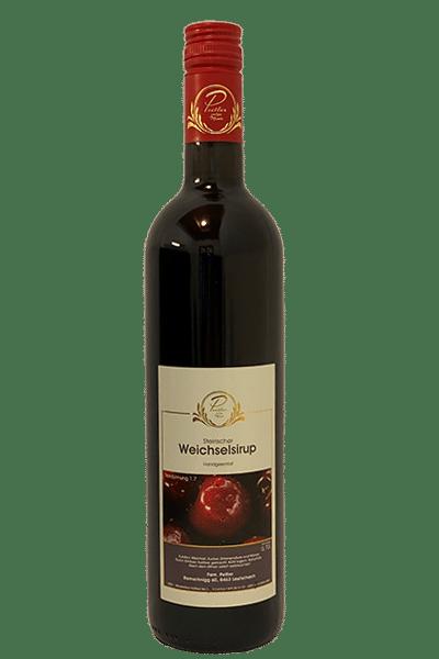 Herrlicher Weichselsirup - Weingut und Obsthof Peitler Monti aus Leutschach in der Südsteiermark