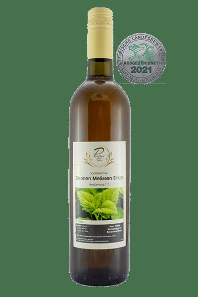 Zitronenmelissensirup - Weingut und Obsthof Peitler Monti aus Leutschach in der Südsteiermark